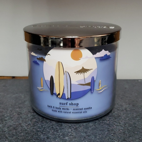 NEW BBW 3 WICK CANDLE SURF SHOP